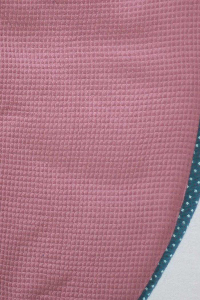 forestime bavoir adulte foulard de table bleu canard dos