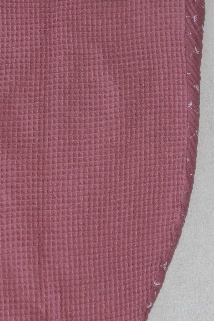 forestime vetement senior bavoir adulte foulard de table flore rose dos