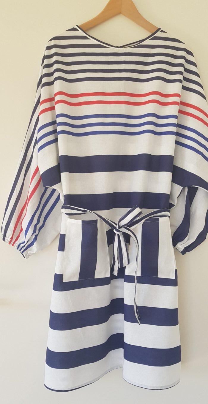 surblouse lavable rayée marine blanc La Bleu Blanc Rouge vue du devant