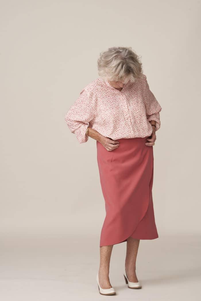jupe portefeuille facile à fermer élégante vêtements modernes et adaptés