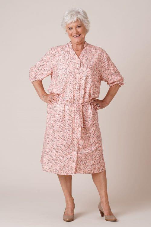 Robe pour senior Rosalie imprimé rose