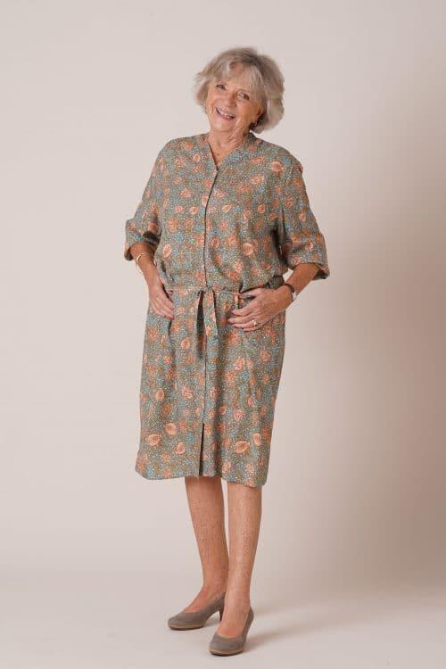 Robe pour senior Rosalie imprimé vert